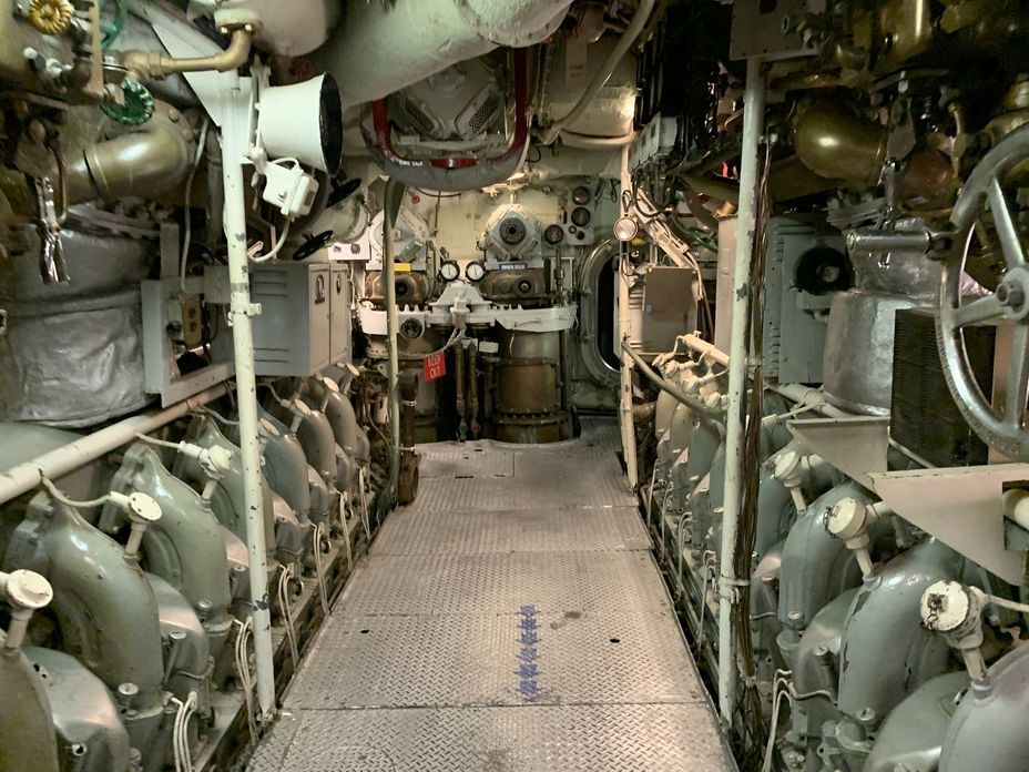 ​Diesel engines' compartment. Every diesel had its own name. Photo by the author - Interesting Mismatch | Warspot.net