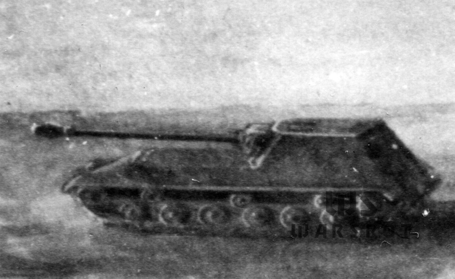 ​A sketch of an ISU-152 on a modernized IS-2 chassis, April of 1944 - Object 704: Late Replacement | Warspot.net