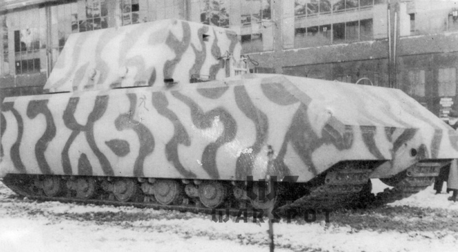 ​After camouflage and markings were applied - Stillborn Maus  | Warspot.net