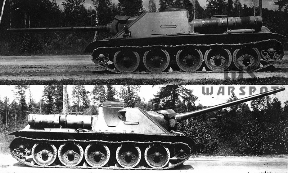 ​The same vehicle from the sides. The commander's cupola was moved backwards - SU-100: Optimal Modernization  | Warspot.net